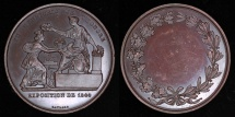 World Coins - 1844  France - French Industrial Exposition of 1844 on the Champs-Élysées in Paris by Raymond Gayrard