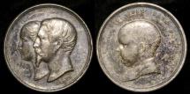 World Coins - 1856 France - Napoléon Eugène Louis Jean Joseph Bonaparte, prince impérial of France, Baptismal Medal by Armand-Auguste Caqué