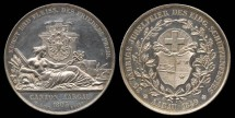 World Coins - 1849 Switzerland – Aargau 25th Anniversary Shooting Festival