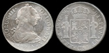 World Coins - 1784 FM-Mo Mexico 8 Reales (Carolus III) AU