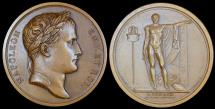 World Coins - 1810 France - Napoleon - Erection of the Monument to Desaix' by Jean-Bertrand Andrieu and Nicolas Guy Antoine Brenet