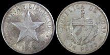 "World Coins - 1934 Cuba 1 Peso ""Star Peso"" AU"