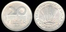 World Coins - 1965 BP Hungary 20 Filler BU