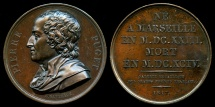 World Coins - 1817  France - Pierre Paul Puget, French painter, sculptor, architect and engineer by Jacques-Édouard Gatteaux for the Galerie Metallique des Grands Hommes Francais