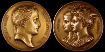 World Coins - 1809 France - Napoleon - Re-Unification of Rome and Paris by Jean-Bertrand Andrieu, Alexis Joseph Depaulis and Dominique-Vivant Denon