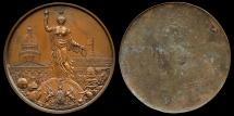 World Coins - 1851  France - The Great Exhibition of Industry of All Nations in London by the French firm Desaide-Roquelay - A cliché of the medal