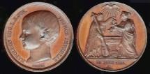 World Coins - 1856 France - Napoleon Eugene Baptism Medal by Alfred Borrel