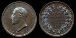 World Coins - 1886 – Great Britain: Prince Albert - Colonial & Indian Exhibition – London