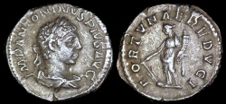 Ancient Coins - Elagabalus Denarius - FORTVNAE REDVCI - Rome Mint