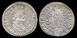 World Coins - 1672kb Hungary 6 Krajczar AU