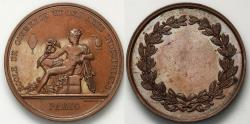 World Coins - 1845 France - Commerce and Industry School Prize Medal by Joseph François Domard