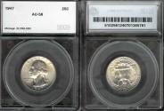 Us Coins - 1947 Washington Quarter SEGS AU58