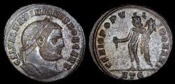 Ancient Coins - Galerius Ar Follis - GENIO POPVLI ROMANI - Heraclea Mint
