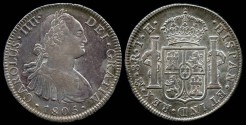 World Coins - 1805 MoTH Mexico (Mexico City Mint) 8 Reales of Charles IIII XF