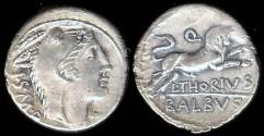 Ancient Coins - L. Thorius Balbus Denarius (105 BC)