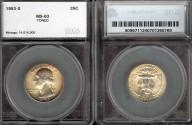 Us Coins - 1953s Washington Quarter SEGS MS63