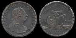 World Coins - 1808 Sierra Leone 2 Dollars, George III - Medallic Issue (2007), Bronzed Copper UNC