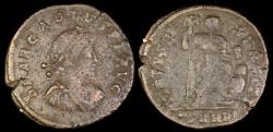 Ancient Coins - Arcadius Ae3 - VIRTVS EXERCITI - Cyzicus Mint