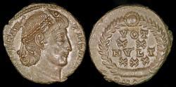 Ancient Coins - Constantius II Ae4 - VOT/XX/MVLT/XXX - Antioch Mint