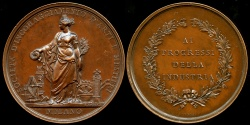 World Coins - 1886  Italy - Milan - Society for the Encouragement of Arts and Crafts;  Medal for the Progress of Industry by Luigi Cossa