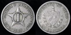 World Coins - 1916 Cuba 1 Centavo - 1st Republic - XF