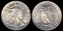 Us Coins - 1940 Walking Liberty Half Dollar UNC
