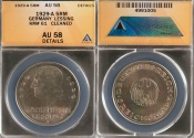 """World Coins - 1929 A Weimar Republic 5 Reichsmark """"200th Anniversary - Birth of Gotthold Lessing Commemorative Silver"""" ANACS AU58"""