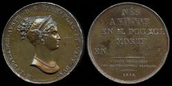 World Coins - 1816 France - Marie Louise of Austria, as Duchess of Parma, Piacenza and Guastalla by Giovanni Antonio Santarelli