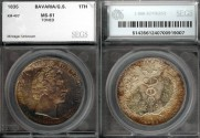 World Coins - 1835 Bavaria Thaler SEGS MS61