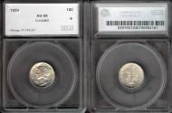 Us Coins - 1939 Mercury Dime SEGS AU58