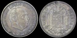 World Coins - 1947 (53) Spain 1 Peseta - Francisco Franco - AU