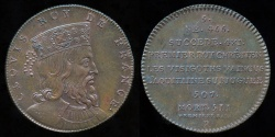 World Coins - 1833 France - Clovis King of France by Armand-Auguste Caqué for the Galerie Numismatique des rois de France