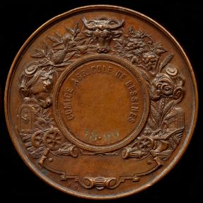 World Coins - 1890 France – Bessines Agricultural Award Medal by Alphonse Desaide
