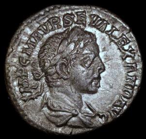 Ancient Coins - Severus Alexander Denarius - LIBERTAS AVG - Antioch Mint