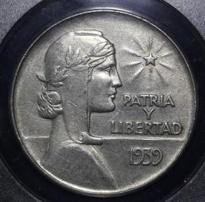 World Coins - 1939 Cuba 1 Peso -