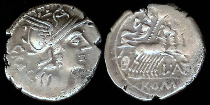 Ancient Coins - L Antestius Gragulus Denarius (136 BC)