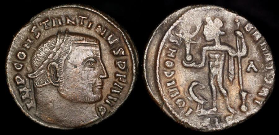 Ancient Coins - Constantine I Ae3 - IOVI CONSERVATORI - Siscia Mint
