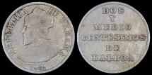 """World Coins - 1929 Panama 2-1//2 Centesimos - """"Dos Y Medios"""" Vasco Núñez de Balboa - VF"""