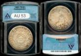 World Coins - 1889 Paraguay 1 Peso ANACS AU53