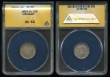World Coins - 1893 So Uruguay 10 Centesimos ANACS AU55