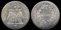 World Coins - 1977 France 50 Franc BU