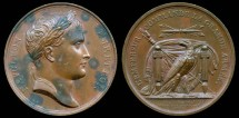 World Coins - 1805 France - Napoleon - Camp at Boulogne Raised by Jean-Bertrand Andrieu, Jean Pierre Droz and Nicholas Guy Antoine Brenet