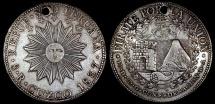 World Coins - 1837 CUZCO BA Peru - (South Peru) 8 Real AU