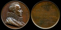 World Coins - 1818 France - Jacques Auguste de Thou (French historian, book collector and president of the Parliament de Paris) by Raymond Gayrard