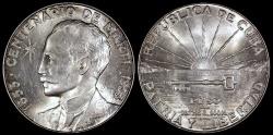 "World Coins - 1953 Cuba 1 Peso - ""Centennial of Jose Marti Birth"" - BU"