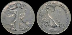 Us Coins - 1929 S Walking Liberty Half Dollar AG