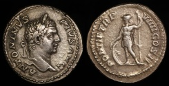 Ancient Coins - Caracalla Denarius - PONTIF TR P VIIII COS II - Rome Mint