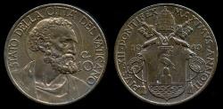 World Coins - 1940 Vatican 10 Centesimi - Pius XII BU