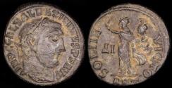 Ancient Coins - Maximinus II Follis - SOLI INVICTO - Antioch Mint