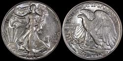 Us Coins - 1942 P Walking Liberty Half Dollar AU